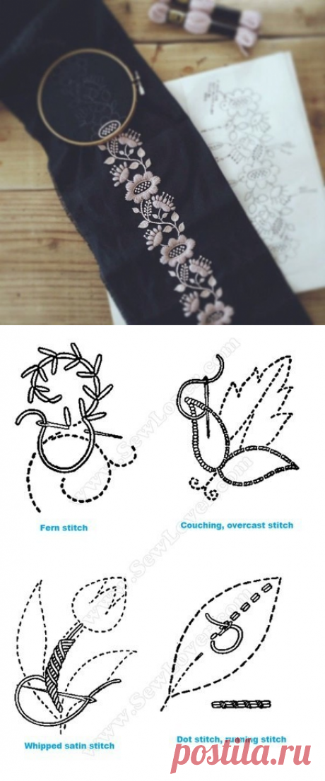 Seams for embroidery