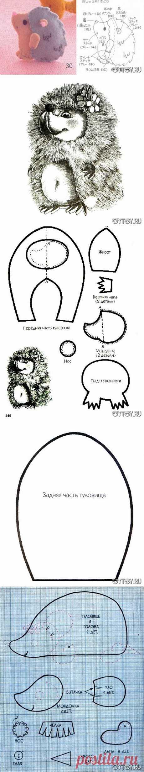 Ежики курносые))) +ВЫКРОЙКИ / Разнообразные игрушки ручной работы / PassionForum - мастер-классы по рукоделию