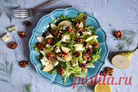 Салат с грушей и сыром дор блю рецепт с фото пошагово и видео - 1000.menu