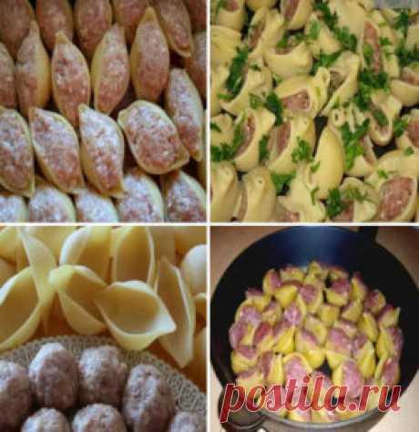 Лучшие кулинарные рецепты - Ракушки с фаршем с соусом бешамель