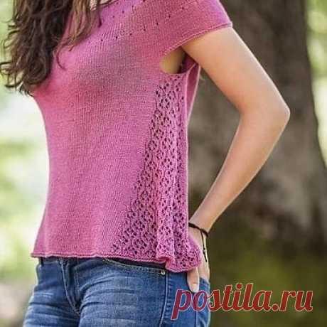Летняя блуза с интересным дизайном