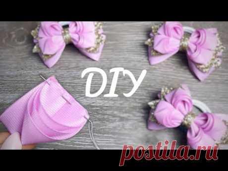 Возьмем репсовую ленту 4см шириной и для декора кожу с блеском Алена Хорошилова - YouTube