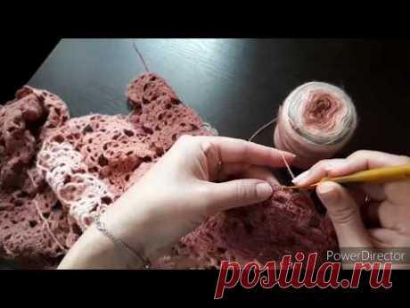 Соединяем ленточное кружево в полотно// что  новенького у меня  в вязаниии