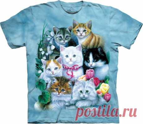 Арт № 101172 Футболка  3D The Mountain Classic - Kittens Бесшовная футболка -варенка 100% хлопок Размеры Детские S, M, L,XL  +  Взрослые  S, M, L,XL, XXL, XXXL Рисунок нанесен красками на водной основе. Не выгорает, не тянется