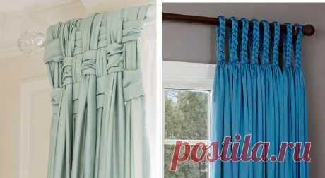 Нашла 20 способов подвешивания штор. Делюсь с вами! Украсить спальню, гостиную, детскую или даже кухню могут обыкновенные шторы.