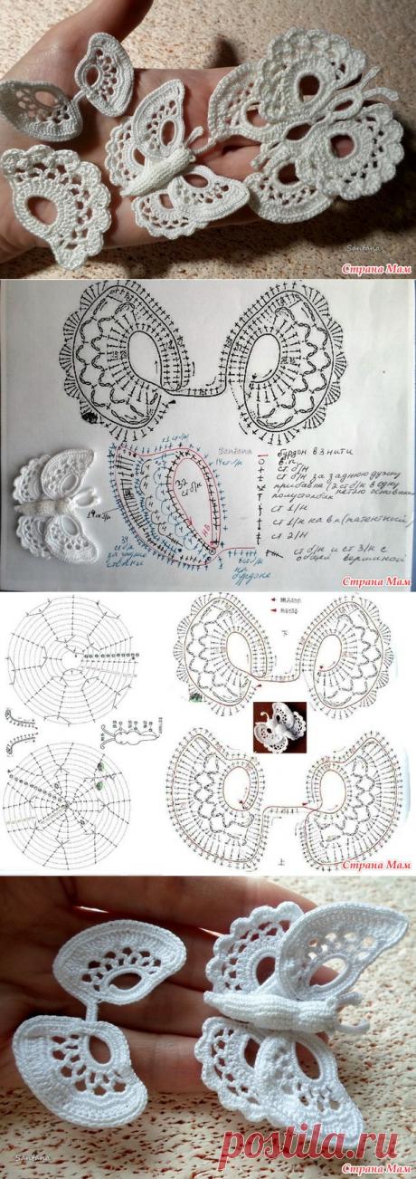Бабочка на бурдоне по страницам старинного издания - Вязание - Страна Мам