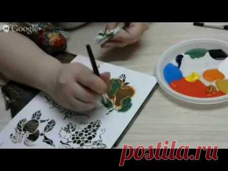 Decoupage. Imitation of a list by means of a cliche. Lyudmila Mikhaylovskaya