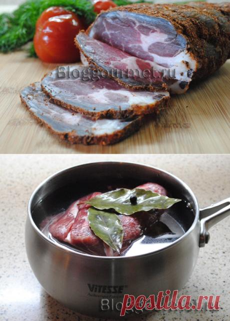 Сыровяленое мясо дома (вялится в холодильнике)