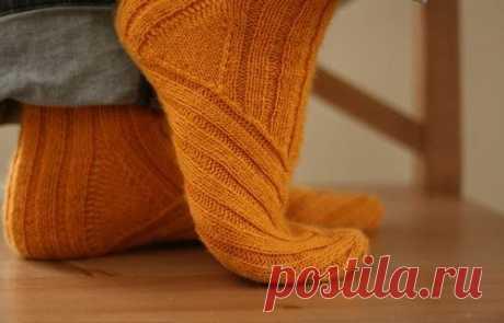 Носки, связанные по косой - Вкусняш
