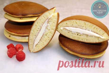 Приготовила японские блины Дораяки. Отличаются от наших в разы: готовятся просто и по вкусу больше напоминают пирожное | Мастерская идей | Яндекс Дзен