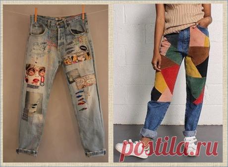 Хочешь переделать джинсовую одежду? Просто добавь побольше цветных заплаток