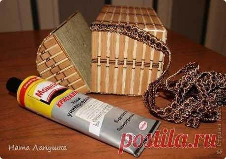 Сундучок из деревянной салфетки — Сделай сам, идеи для творчества - DIY Ideas