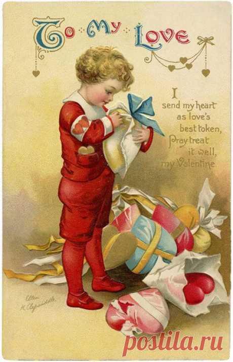Винтажные открытки валентинки