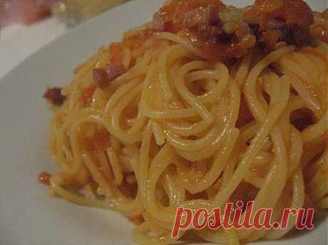 Спагетти с беконом.Итальянское меню. | Итальянское меню