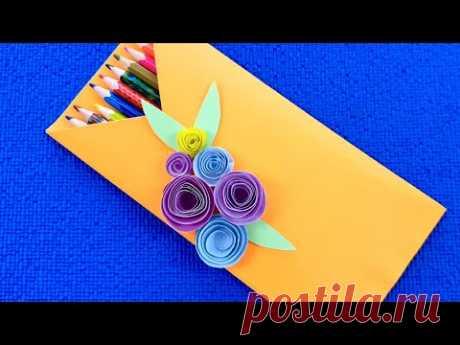 Конверт для подарков своими руками.Подарок своими руками. Поделки из бумаги.