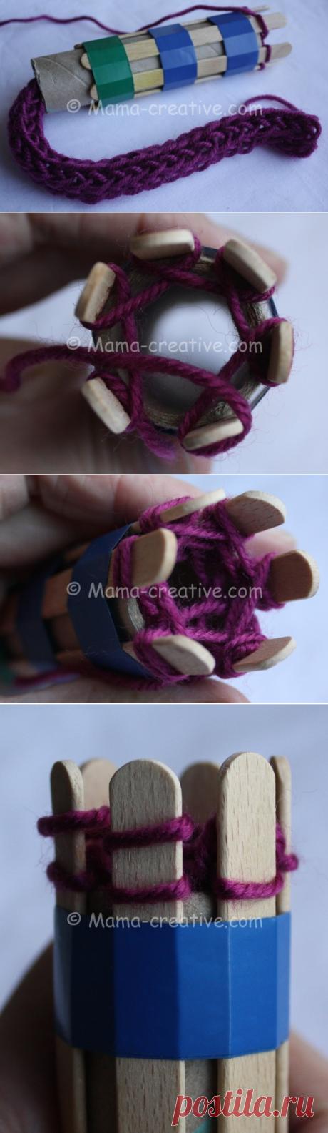 Рукодельные хитрости: делаем сами мельницу для вязания шнуров | Мамин Креатив