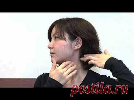 Серия видеороликов интересного японского самомассажа лица - с захватами мышц пальцами и вращением. (+ перевод).