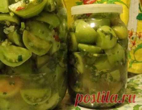 Бесподобно вкусные зеленые помидоры на зиму от армянки.