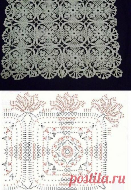 Скатерти из мотивов в белом цвете (схемы) подборка для вдохновения | 38 рукоделок | Яндекс Дзен