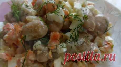 Полезный салат «Осенний» из фасоли