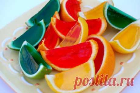 Желе в апельсинах — Кулинарная книга - рецепты с фото