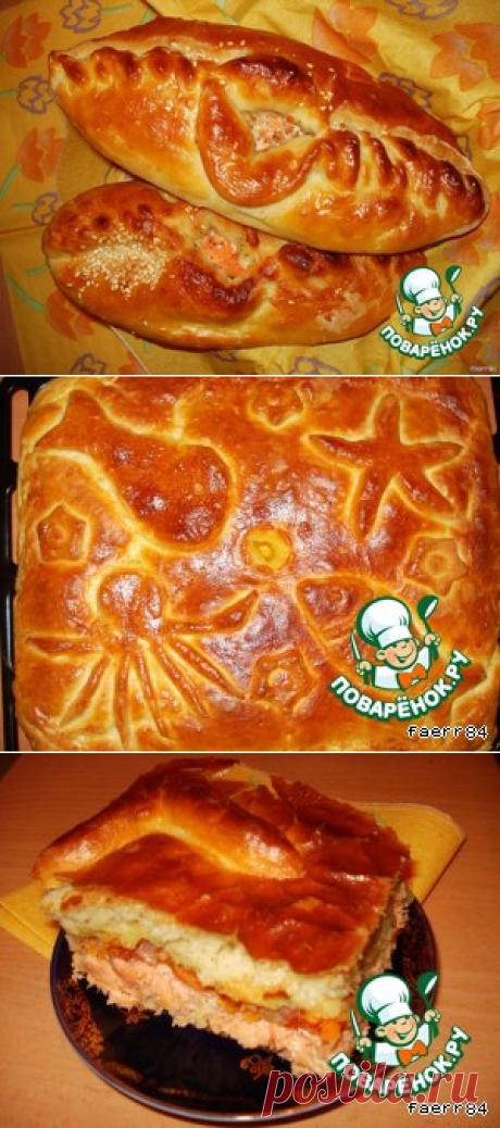"""Рыбный пирог из воздушного теста """"Водный мир"""" - кулинарный рецепт"""