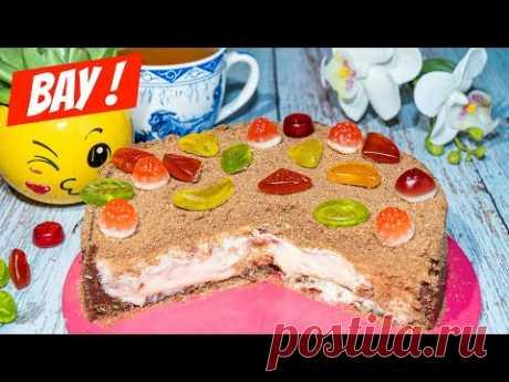 Если НАДОЕЛИ ПИРОГИ! Торт сметанник без выпечки нежнее чем Чизкейк - рецепт к чаю!