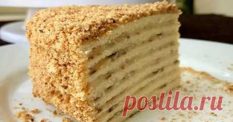 Торт на Сковороде, Чем-то Даже Похож на НАПОЛЕОН.