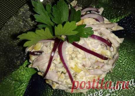 Салат с яичными блинчиками и ветчиной Автор рецепта Лика - Cookpad