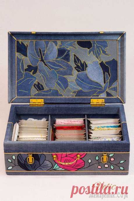Делаем джинсовый чемодан для рукоделия. Работаем в технике кинусайга Со слов автора.В качестве небольшого вступления к повествованию о превращениях деревянного чемодана, мне хотелось бы поведать вам об одной особенности своего характера. Я не люблю выбрасывать пришедш...