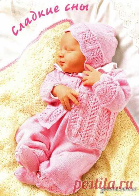 Комплект для новорожденного спицами. Описание и схемы