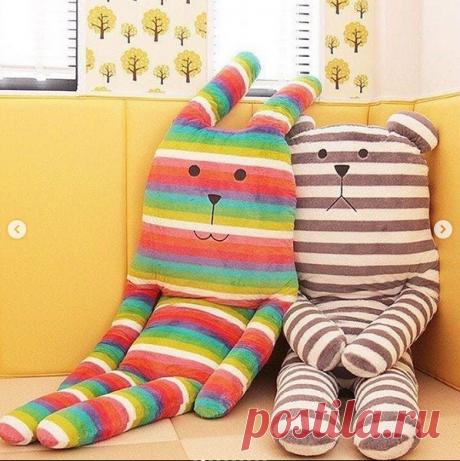 Креативные мягкие игрушки-подушки (выкройки) / Детская комната.