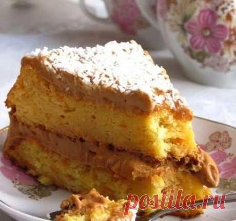 Как приготовить апельсиновый торт с вареной сгущенкой - рецепт, ингредиенты и фотографии