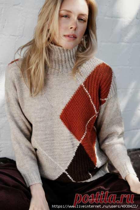 "Свитер ""Осенний клён"". Autumn Maple sweater."