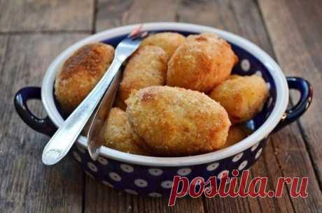 Картофельные крокеты с сыром и грибами