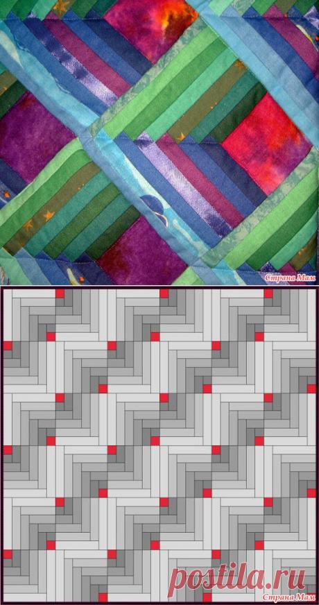 Блок Изба Часть 3, брёвна с двух сторон (Шеврон) - Лоскутное Шитьё - Страна Мам