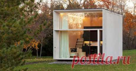 Комфортный дом площадью 30 кв. метров, который можно построить всего за 7 часов С сокращением свободного места для застройки растет популярность компактных домов. Эстонские архитекторы предложили микро-дом площадью всего 30,3 квадратных метров, который можно полностью собрать всего за 7 часов.