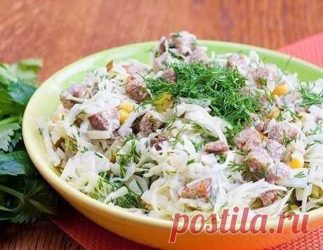 Салат с сухариками и кукурузой - Вкусный дом - пошаговые рецепты с фото