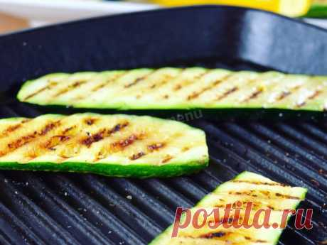 Кабачки на сковороде гриль без масла быстро и вкусно рецепт с фото - 1000.menu