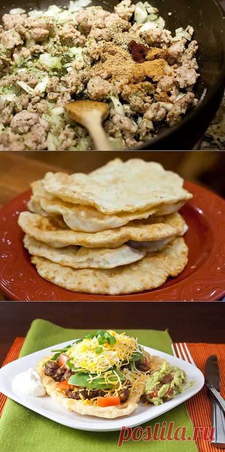InVkus: Жареная лепешка с овощами и мясом а ля Мексико. Пошаговый рецепт с фотографиями.