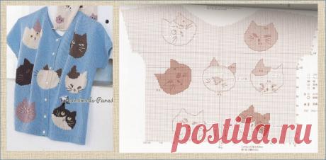Жаккард и интарсия с прекрасными кошками - более сотни схем и моделей - в копилки мастериц | МНЕ ИНТЕРЕСНО | Яндекс Дзен детское