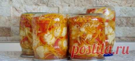 Капуста по-корейски на зиму - пикантная и в меру острая закуска, заготовленная впрок
