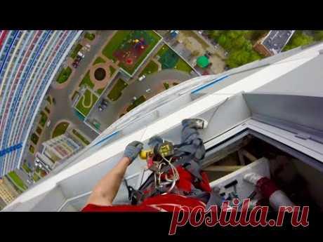 Ураган глазами альпиниста с 27 этажа ЖК Триколор - YouTube