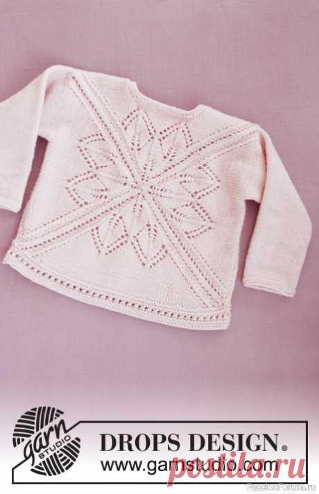 Джемпер Spring Princess от DROPS DESING | Вязание спицами для детей