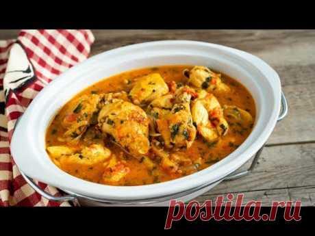 Чахохбили из Курицы | Грузинская Кухня | Chicken Chahohbili – Georgian Ragout | Tanya Shpilko