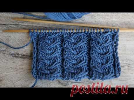 Танцующие косы из вытянутых петель | Dancing cables knitting patern