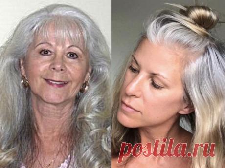 Что делать, если седые волосы пожелтели   Женщинам от Натальи Кононовой   Яндекс Дзен