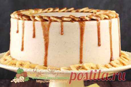 Банановый торт на Рождество: рецепт приготовления с фото