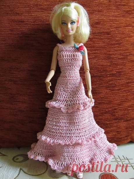 Вязаные наряды для Барби..
