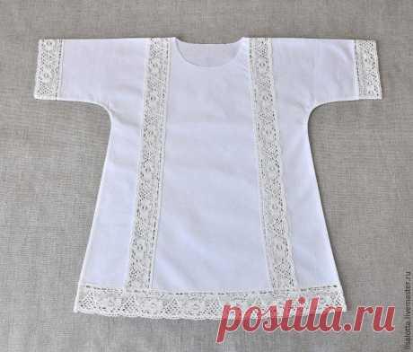 Шьем крестильную рубашку с кружевными вставками! » Женский Мир